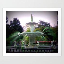 St Patty's Fountain  Art Print