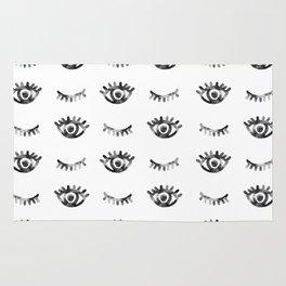 Eye Eyelashes Pattern Rug