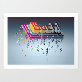 Ouch! Art Print