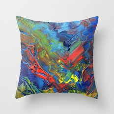 The Reef that Thrived on the Blood of Sailors Throw Pillow