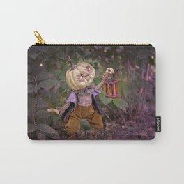 Rucus Studio Pumpkin Man and Fireflies Carry-All Pouch