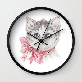 Kitty's portrait Wall Clock