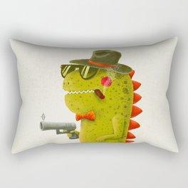Dino bandito (olive) Rectangular Pillow