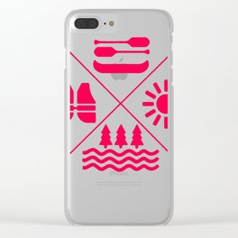 rafting gift raft dinghy raft whitewater Clear iPhone Case