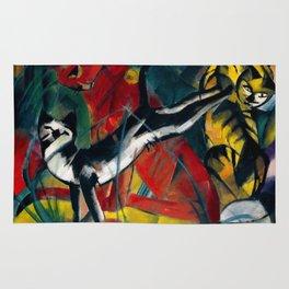 """Franz Marc """"Three Cats (Drei Katzen)"""" Rug"""