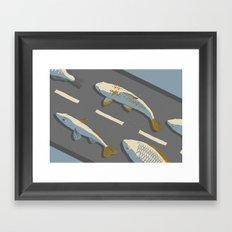 Car-fish Framed Art Print