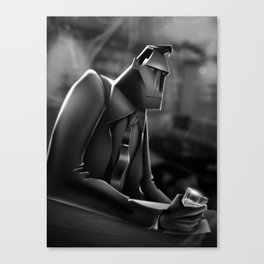 Working Late Canvas Print