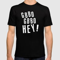 GBBO GBBO HEY MEDIUM Black Mens Fitted Tee