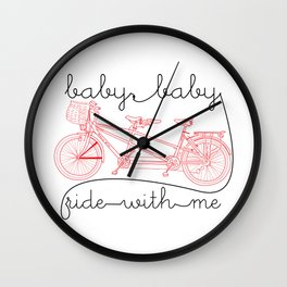 slow jamz bicycle for two Wall Clock