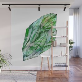 Crystal Emerald Green Gem 1 Wall Mural