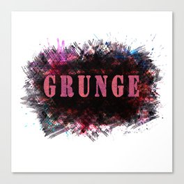 "The word ""GRUNGE"" . Canvas Print"