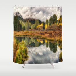 Transition Of The Seasons in Rocky Mountains Colorado by OLena Art Shower Curtain