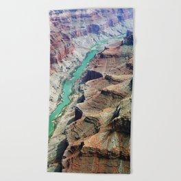 Grand Canyon Bird's eye view #4 Beach Towel