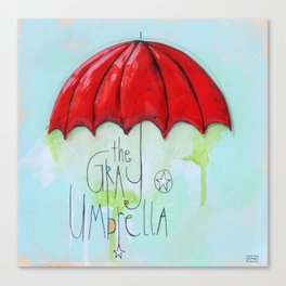 The Gray Umbrella Canvas Print