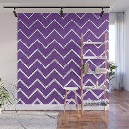 Purple Zigzag Chevron Pattern Wall Mural