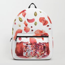 My heart is full of flowers / pomegranate and poppies Backpack