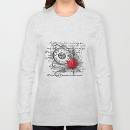 Pocket watch and rose Long Sleeve T-shirt