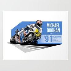 Mick Doohan - 1991 Salzburgring Art Print