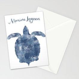 Turtle Marine Lagoon habitat Stationery Cards