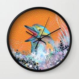 Abstract kookaburra bird Wall Clock