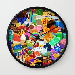Sticker overload Wall Clock