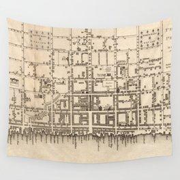 Vintage Map of Philadelphia Pennsylvania (1776) Wall Tapestry