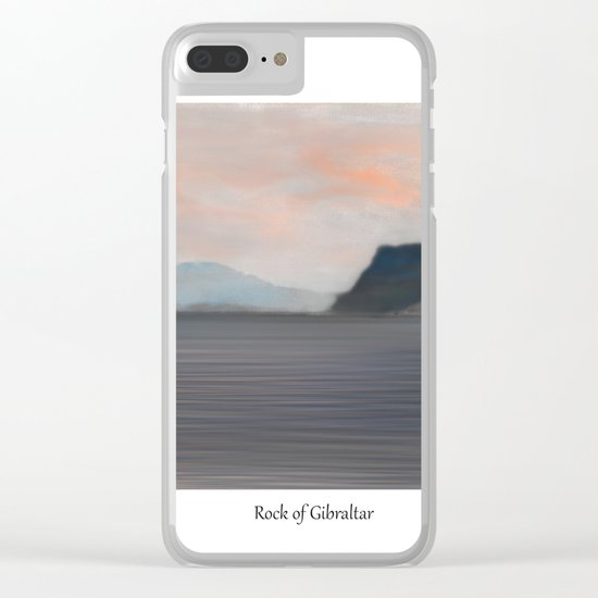 Rock of Gibraltar 2 Clear iPhone Case