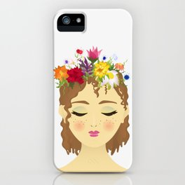 Flower Crown May iPhone Case