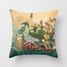 Goblins Drool, Fairies Rule! - Team Goblin Throw Pillow