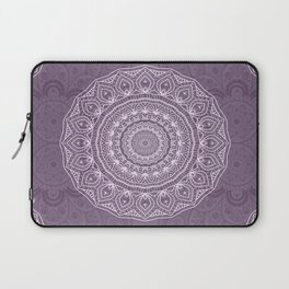 White Lace on Lavender Laptop Sleeve