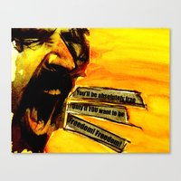 zappa Canvas Prints featuring Zappa Free by MarjoBourge