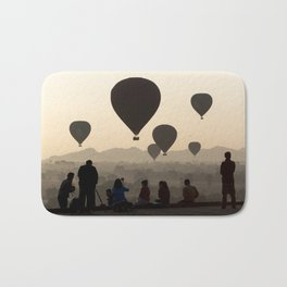 Hot-air Balloons over Bagan, Myanmar Bath Mat