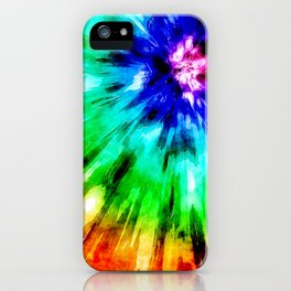 Tie Dye Meets Watercolor iPhone Case