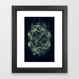 Sacred Geometry for your daily life -  Platonic Solids - ETHER Framed Art Print
