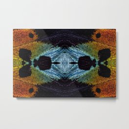 Mirrored Madagascan Sunset Moth Iridescence Metal Print