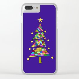 Christmas color tree Clear iPhone Case