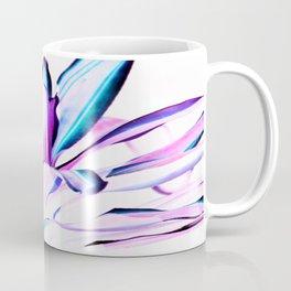 Pink Turquoise Purple Plant Leaves Abstract Coffee Mug