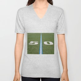 Football Field Fifty Unisex V-Neck