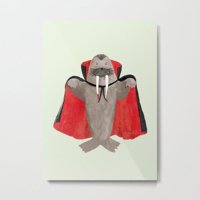Vampire Walrus Metal Print