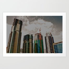 Calgary sky-scrapers  Art Print