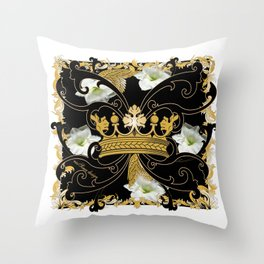 My Empire Collection Summer Set White Flowers Crown Throw Pillow
