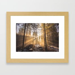 sunday morning Framed Art Print
