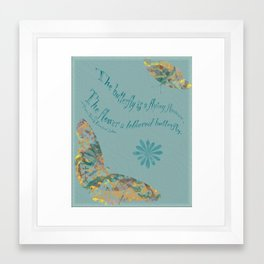 "Butterflies like Flowers - ""Painted"" Framed Art Print"