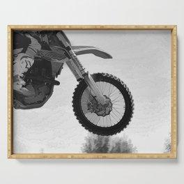 Motocross Dirt-Bike Racer Serving Tray