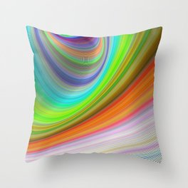 Color illusion Throw Pillow