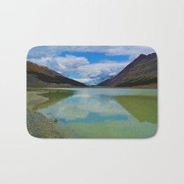 Sunwapta Lake at the Columbia Icefields in Jasper National Park, Canada Bath Mat