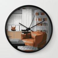 read Wall Clocks featuring Read by JuniqueStudio