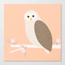 Owl, woodland animal, geometric & minimal Canvas Print