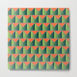 Fake 3D triangles Metal Print