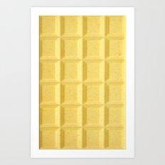 White chocolate Art Print